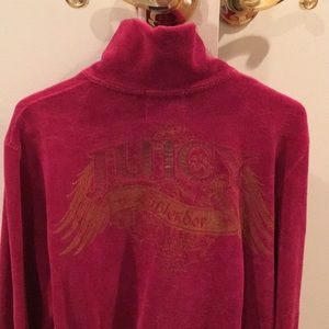 Juicy Couture maroon track suit metallic lettering
